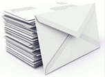 a stack of envelopes