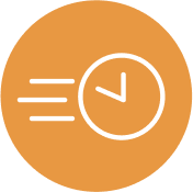 small icon image of a clock