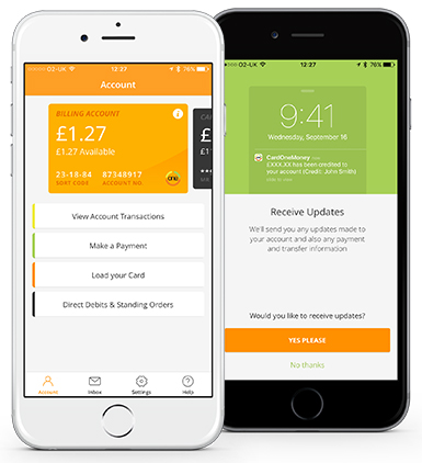 An image of the mobile app